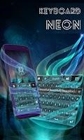 Screenshot of Neon Keyboard for Samsung