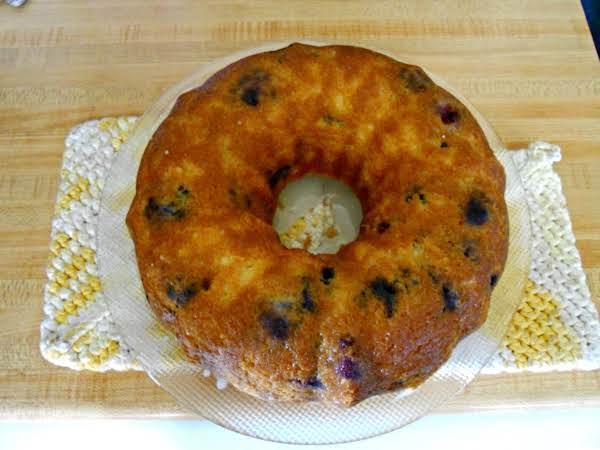 Lemon Glazed Wild Blueberry Cake