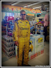 Photo: This cardboard cut-out of Jeff Burton greeted me at Lucky's! I thought it was a great addition to all their pre-race decorations.