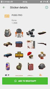 StickWA : Pub-G Stickers For Whatsapp Screenshot