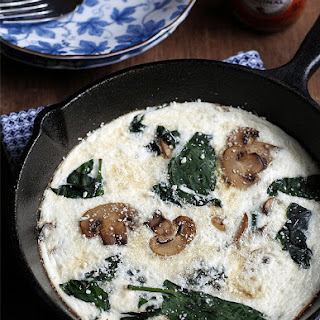 Spinach and Mushroom Egg White Fritata.