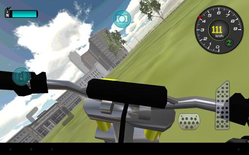 오토바이 운전 3D