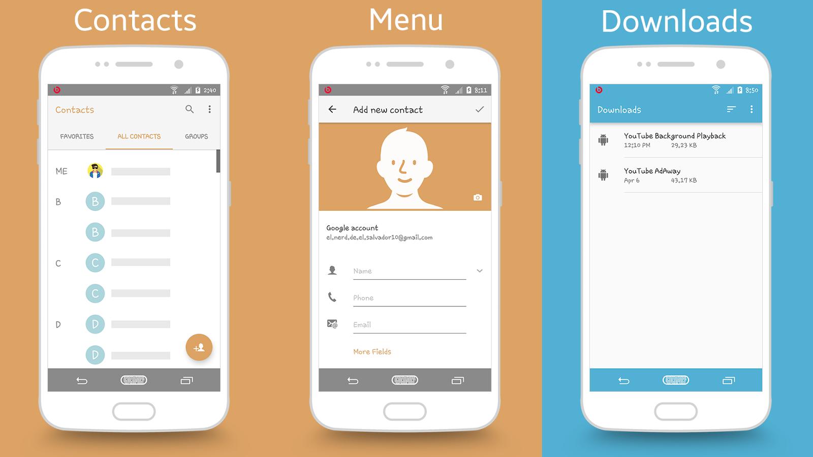 Google themes for iphone - X Galaxymui Themes Screenshot