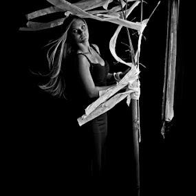 Girl in the dark  by Basuki Mangkusudharma - People Portraits of Women ( girl, dark )