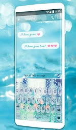 Glass Water Keyboard Theme APK screenshot thumbnail 2