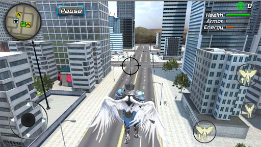 Crime Angel Superhero - Vegas Air Strike apktreat screenshots 1