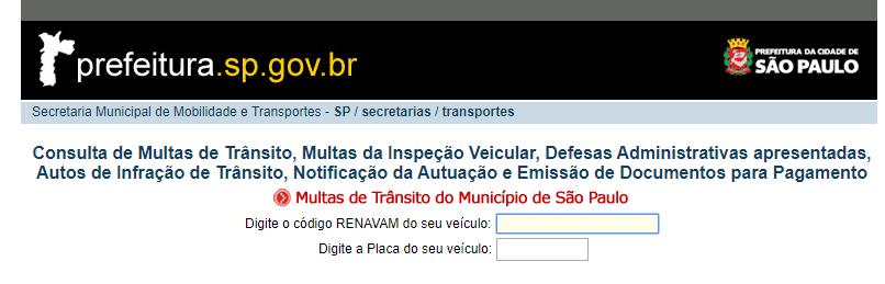 consulte multas no site da prefeitura de São pAULO