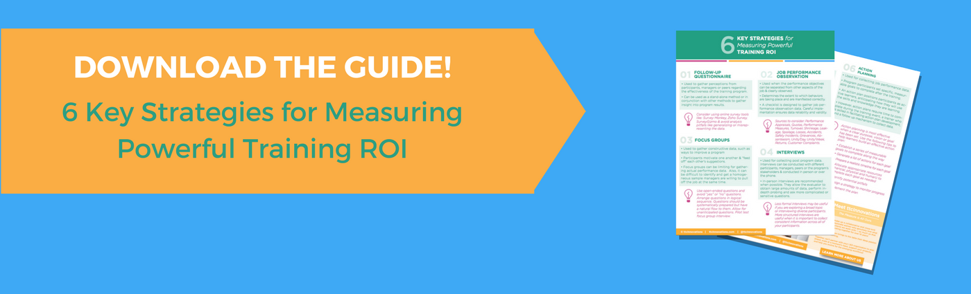 Your learning department is vital! You shouldn't have to suffer from budget cuts! Here's how to prove your training ROI to everyone else. Plus a free guide!