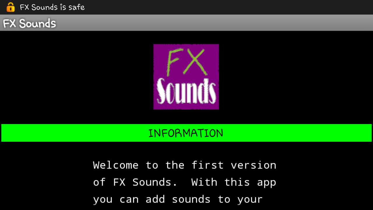FX Sounds- screenshot