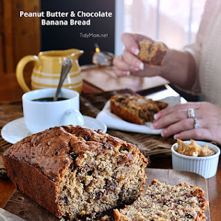 Peanut Butter & Chocolate Banana Bread