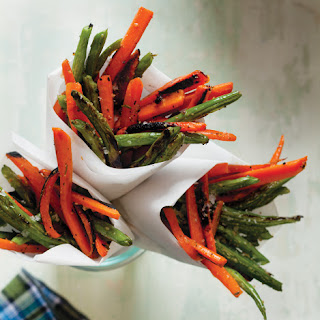 "Rosemary-Garlic Carrot and Green Bean ""Fries"""