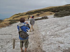Photo: ここだけけっこう雪が残っていた。