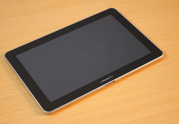 Thiết kế khá hoàn thiện của Galaxy Tab 1 Docomo xách tay Nhật Bản
