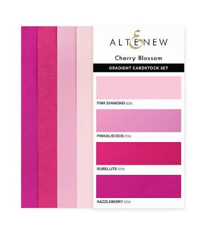 Altenew Gradient Cardstock Set - Cherry Blossom