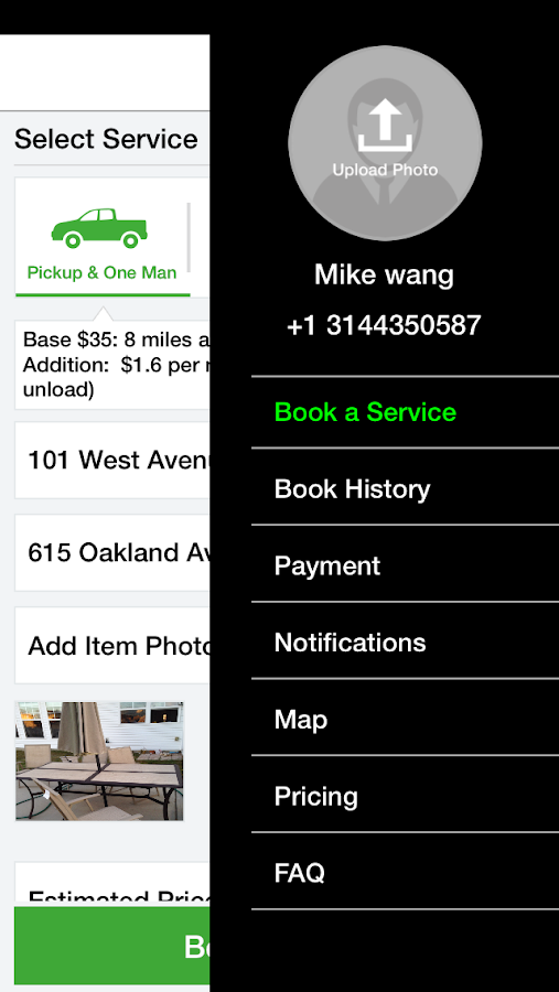 VanMile - Moving & Delivery- screenshot