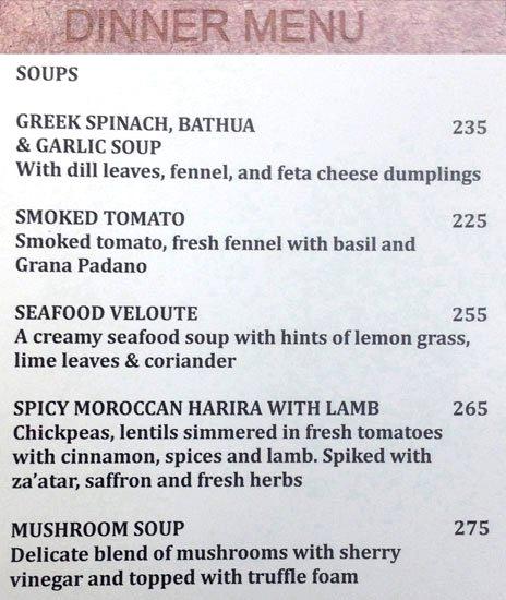 Olive Beach menu 1