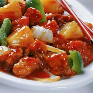 Chicken with Vegetables in Sweet and Sour Sauce Recipe