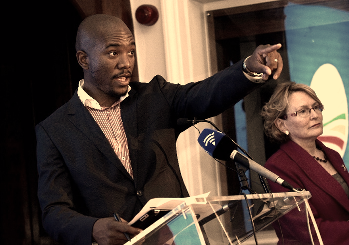 Mmusi Maimane with Helen Zille looks before the rift. Picture: TREVOR SAMSON