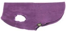 Gold Paw Stretch Fleece Dog Coat - Eggplant, Size 6