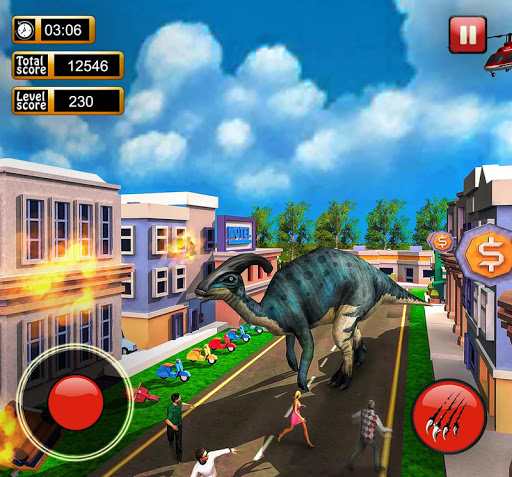 Monster Dinosaur Simulator: City Rampage screenshots 9