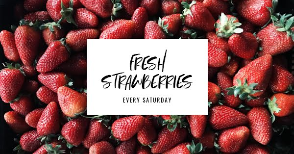Fresh Strawberries - Facebook Event Cover Template