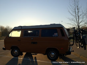 Photo: A chilly sunrise on the way down... at an Ohio rest stop.