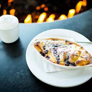 Simple Blueberry Bread Pudding.