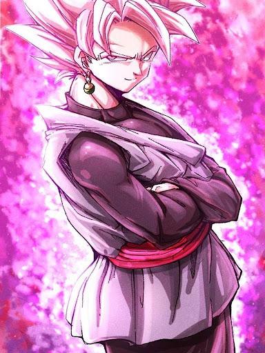 Black Goku Super Saiyan Rose HD Offline screenshot 3