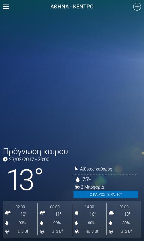 Meteo.gr - στιγμιότυπο οθόνης