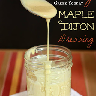 Creamy Greek Yogurt Maple Dijon Salad Dressing Recipe