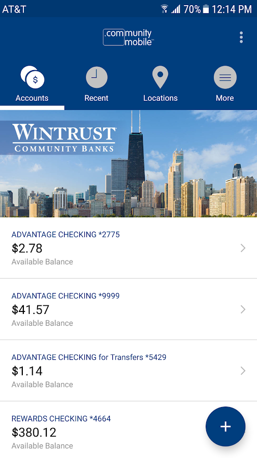 Hinsdale Bank and Trust- screenshot