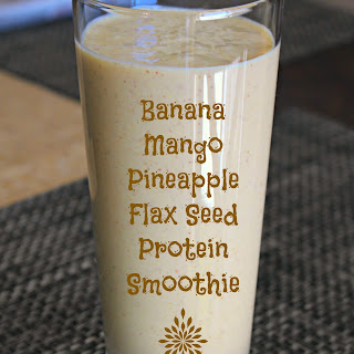 Banana Mango Pineapple Protein Smoothie Recipe