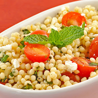 Minted Couscous Salad with Tomatoes and Feta.