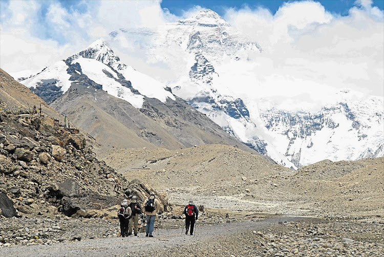 A 41-year-old Australian climber is believed to have died in late December after falling from a ridge on his way to the 6,119 metre summit of Mount Lobuche's eastern peak, which neighbours Mount Everest. File photo.