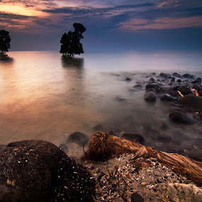 dawn of sta. cruz by Gary Mahipus - Landscapes Waterscapes