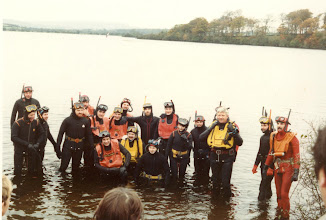 Photo: L.S.A.C. divers join Ennis S.A.C. for their annual fin- swim in the River Fergus.