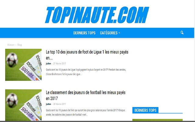 Topinaute.com: Classements et listes