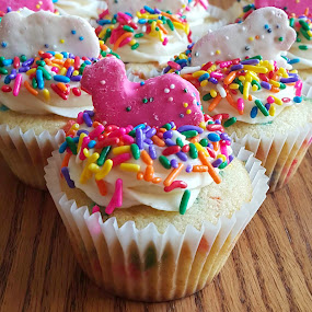 Let's Party Cupcakes by Nicole Mitchell - Food & Drink Cooking & Baking ( cupcake, animal crackers, sprinkles, funfetti, party )