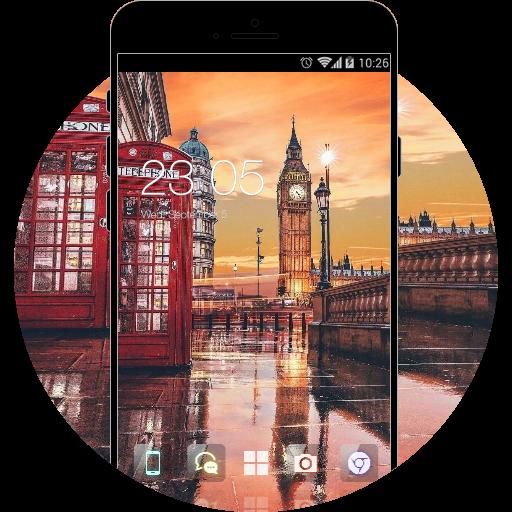 London City Theme: Raining Street Wallpaper HD
