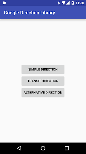 Demo App for Direction Library
