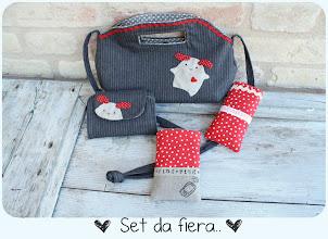 Photo: borsina Dewdrop handbag, zip pocket pouch di Michelle Patterns, porta fazzoletti e porta smartphone miei