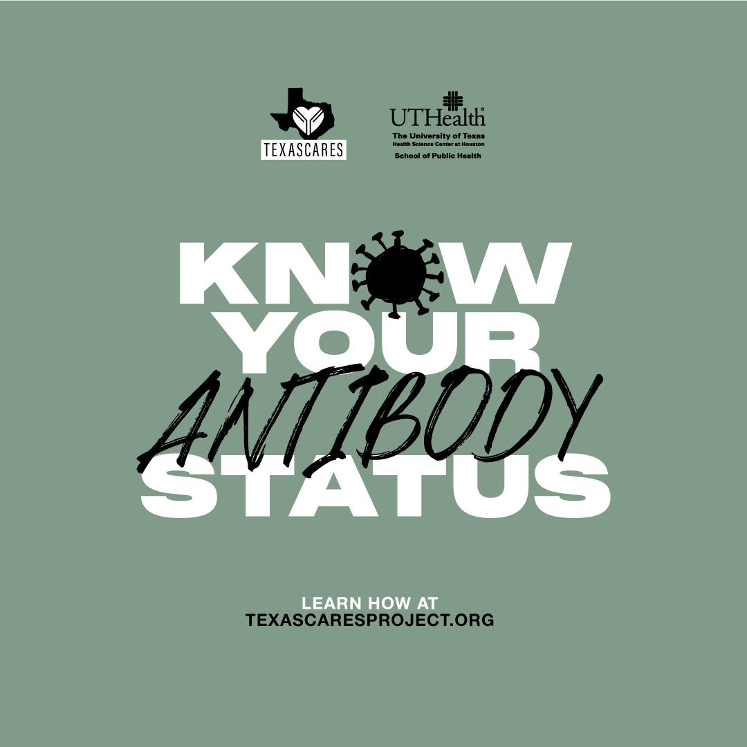 "Text says, ""Know your antibody status."""