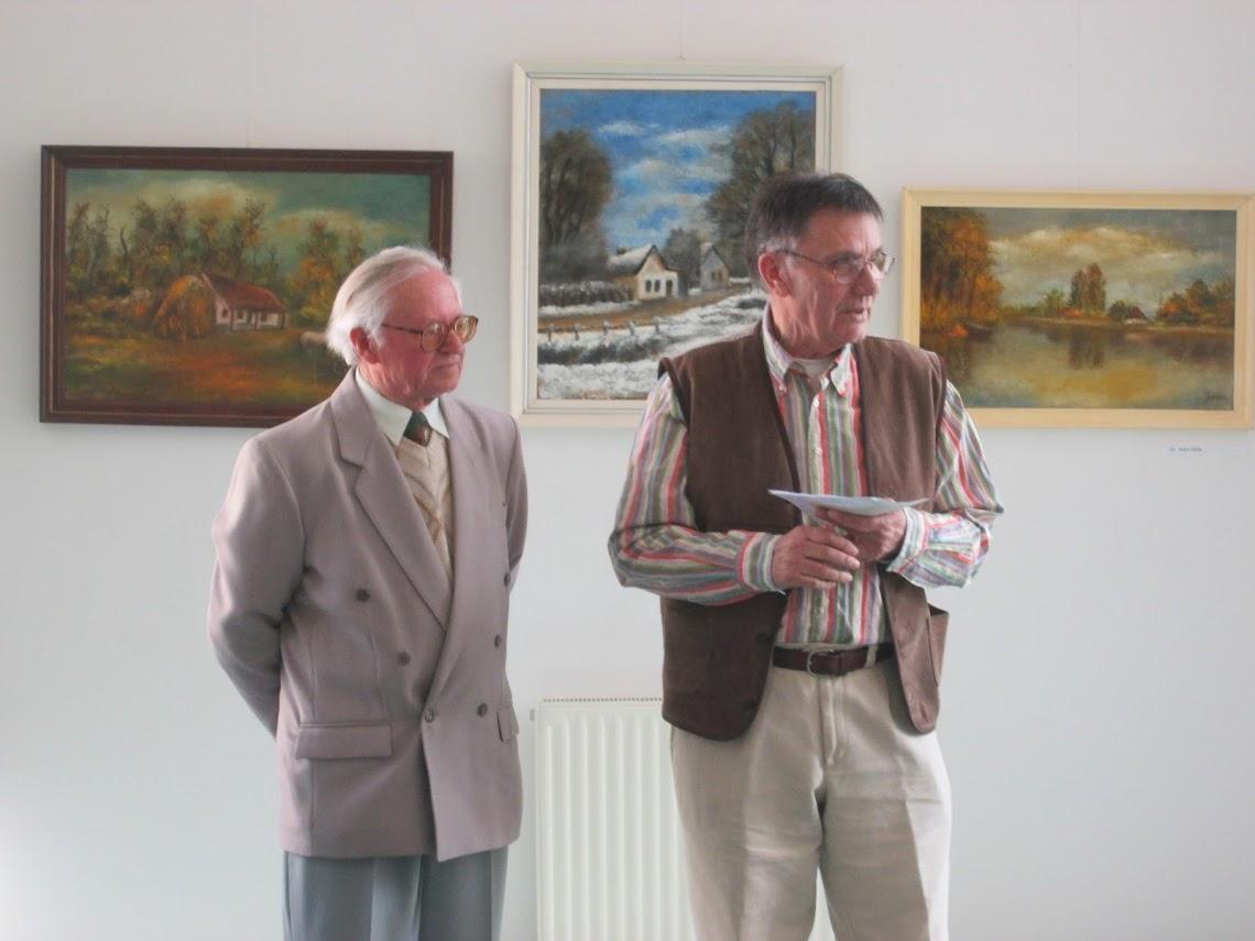 Juhász János és Lengyel Boldizsár a megnyitón
