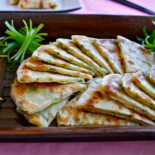 Classic Chinese Scallion Pancakes.