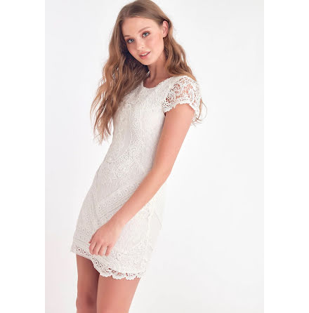 Heart Dress, White - Dry Lake