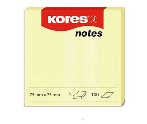 cubo kores notas amarillo 100 hojas 75x75mm