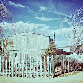 Fence by Rosemary Gamburg - Buildings & Architecture Public & Historical ( #fence #pioneertown )