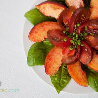 Heirloom Tomato and Peach Salad