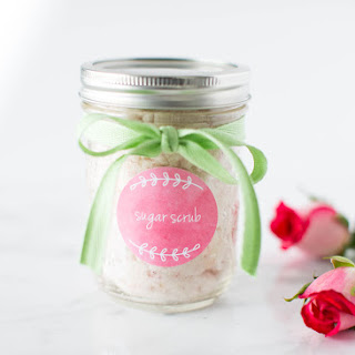 Homemade Vanilla Rose Sugar Scrub