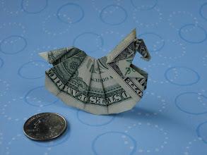 Photo: Model: Dollar Rocking Horse;  Creator: Sy Chen;  Folder: William Sattler;  1 dollar;  Publication: Annual Collection 2002 (OrigamiUSA) http://www.origami-usa.org/